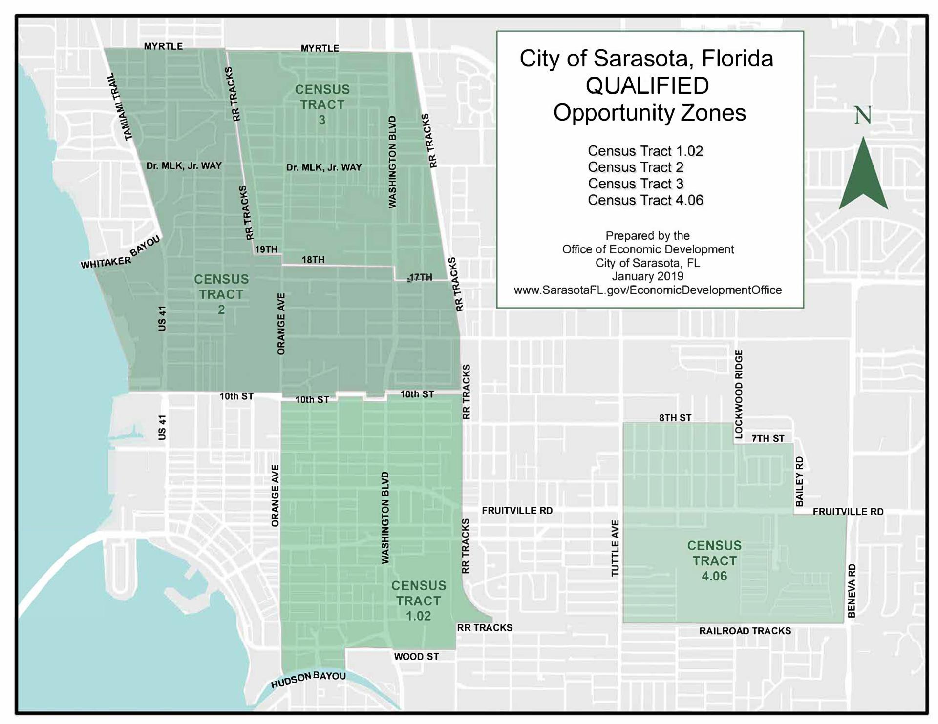 2019 City Qualified Opportunity Zones Map