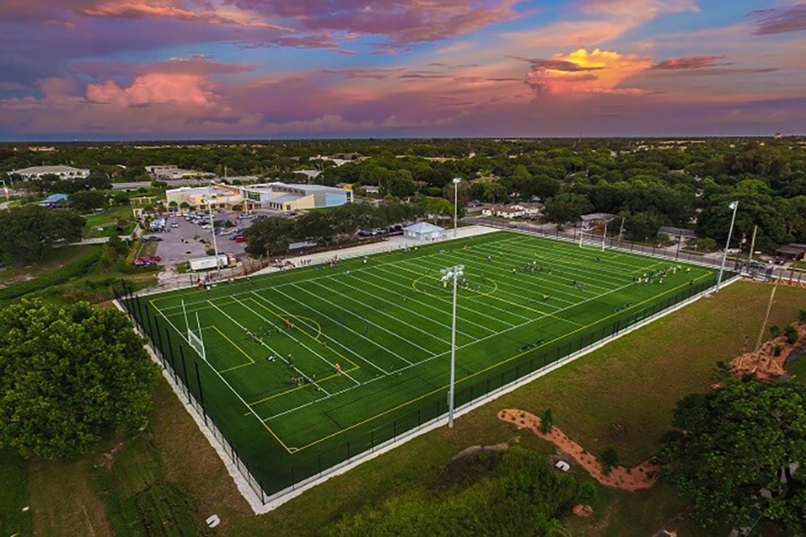 RLTCC Ariel view of turf field